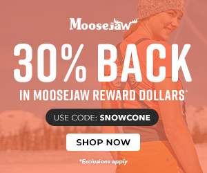 Get 30% Back in Reward Dollars when you Shop The North Face, Arcteryx, + more with code SNOWCONE