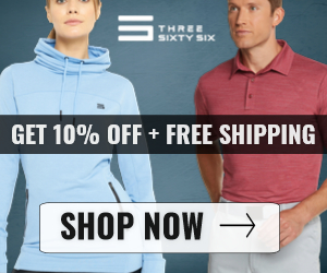 All Apparel Promotion 10% Off + Free Shipping at Three Sixty-Six
