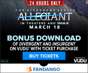24 HOURS ONLY! Bonus Movie Download with Allegiant Ticket Purchase