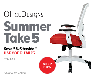 Image for Summer Savings - Save 5% off Sitewide with code TAKE5, exclusions apply. (Valid 7/2/19 - 7/21/19)