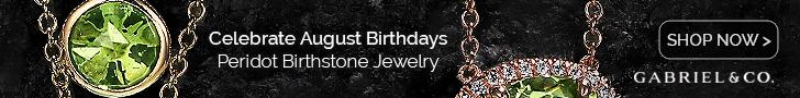 Peridot August Birthstone Fine Jewelry Banner