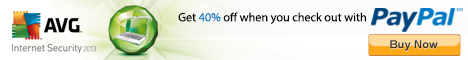 Get 40% off on Internet Security 2013 when you check out with PayPal