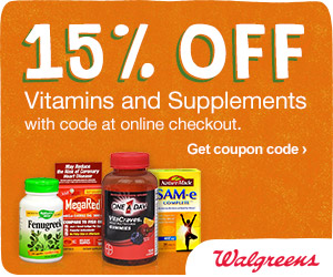 (6/23 - 6/29) Extra 15% off Vitamins & Supplements w/ code VITAMINS15