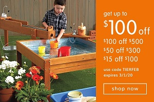 OUTDOOR PRODUCTS SALE! Save Up To $100 OFF Plus Free Shipping On Orders Over $99! Use Code: TIERFEB