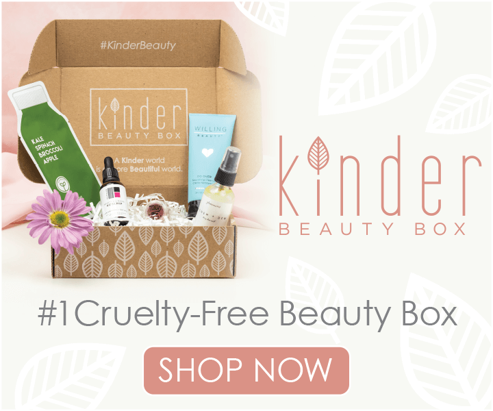 A box of beauty products from Kinder Beauty Box.
