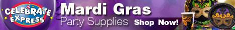 Shop Mardi Gras Party Supplies - 468x60
