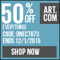 Cyber Monday: 50% OFF on everything at Art.com! code: DNEC7873 (valid 11/30/2015 12:01am to 12/1/201