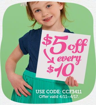 Save $5 on every $10 you spend...