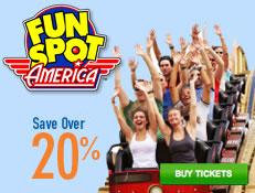 Fun Spot America - Save over 20%!