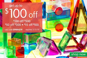 SPRING CRAFT & SCHOOL SUPPLY SALE! Save Up To $100 OFF Plus Free Shipping On Orders $99!