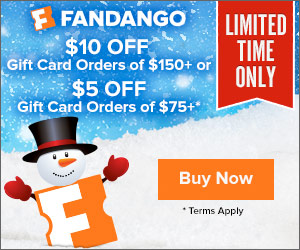 Give the gift of movies. Good for any movie available for ticketing on Fandango.