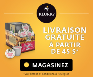 LIVRAISON GRATUITE pour les commandes de $45 et plus sur Keurig.ca