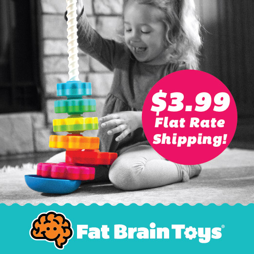 $3.99 Flat Rate Shipping from Fat Brain Toys