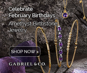 February Birthstone Amethyst Fine Jewelry Banner