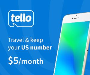 Tello for travelers