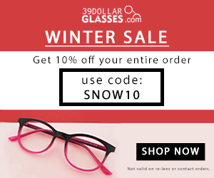 Get $10 off every pair of glasses in your order. use code: WIN10