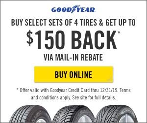 Goodyear Tires Deals & Rebates 2019
