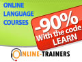 -90% : Online Language Courses Green