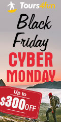 Black Friday & Cyber Monday: Tours up to $300 off!