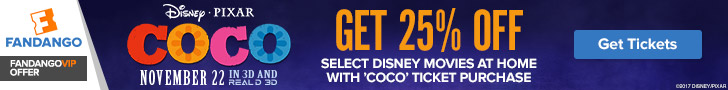 Buy tickets to 'Coco' and get 25% off select Disney movies at home