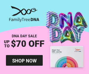 Save up to $70 on FamilyTreeDNA's ancestry testing services during the DNA Day Sale!