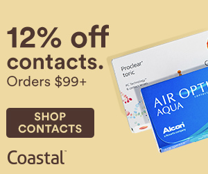 12% off contact orders over $99. Use code CLEAR12