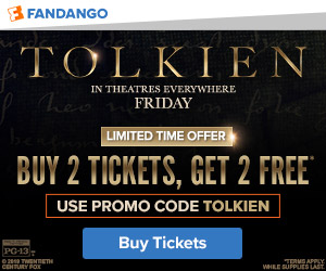 300x250 Fandango: Buy 2 Tickets, Get 2 Free with Promo Code TOLKIEN. Valid 5/6-5/7