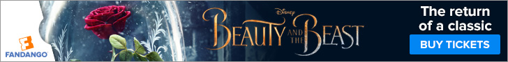 Fandango Beauty and the Beast Ticketing Banner