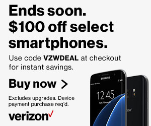 Verizon Wireless Samsung Galaxy Coupons $100 Off