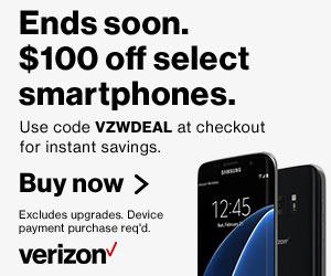 Verizon Wireless Promo Code $100 Off