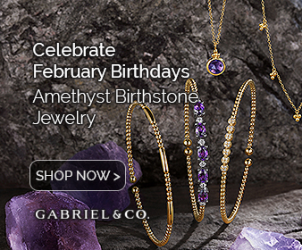 February Birthstone Amethyst Fine Jewelry Banner
