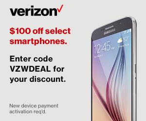 Verizon Wireless Promo Code $100 Off Smartphones