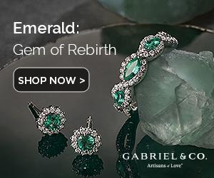 May Birthstone Emerald Fine Jewelry Banner