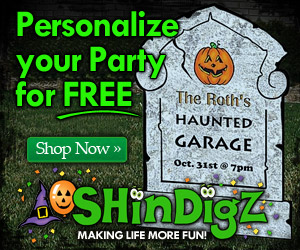 Personalize your Halloween Party at ShindigZ.com