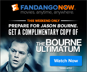 FandangoNOW - Complimentary Copy of The Bourne Ultimatum - This weekend only!