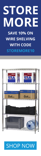 Shelving Inc. - 160×600 Store More 10% OFF Coupon