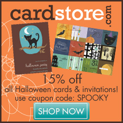 Save 15% on all Halloween Cards