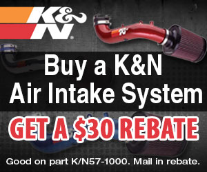 Buy a K&N Air Intake System and get a $30 Promo Gift Card
