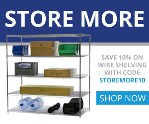 Shelving Inc. - 300×250 Store More 10% OFF Coupon