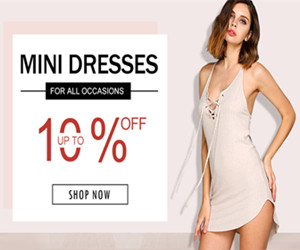Get Up to 10% OFF Mini Dresses.
