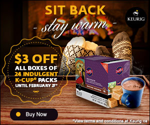 Get $3 off all boxes of 24 indulgent beverage K-Cup® packs