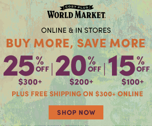 Online & In Store BMSM 15% off $100, 20% off $200, 25% off $300 + FS $300+ with code: BUYANDSAVE