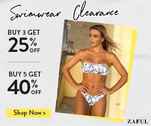 Zaful Swimwear Sale: Buy more save more Buy 3 get 25% off | Buy 5 get 40% off