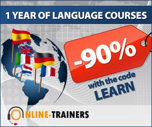 Online Language Courses Blue