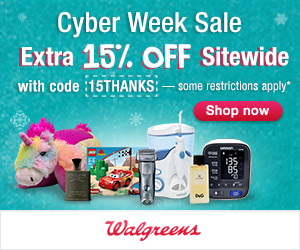 Cyber Week: Extra 15% OFF SITEWIDE with code 15THANKS