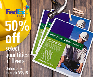 50% off Flyer Sets at FedEx...