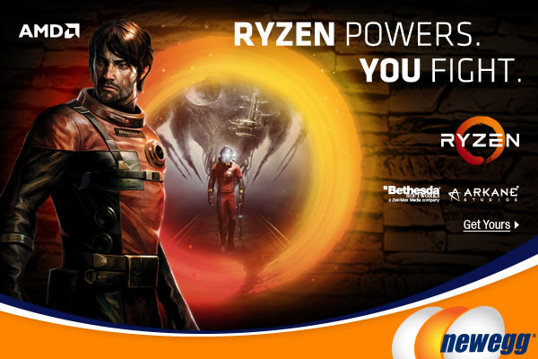 RYZEN POWERS. YOU FIGHT. Experience Prey On The New AMD Ryzen 5 Processors. Get Yours At Newegg.ca