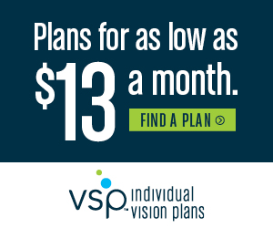 Individual vision plans for as low as $13 a month