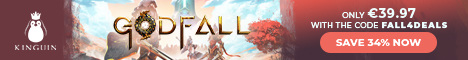 KINGUIN - Godfall is OUT! Save -8% with code ❤️ – 468×60