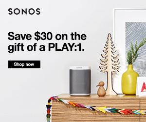 Sonos.com Holiday Deal. $30-$50 off.